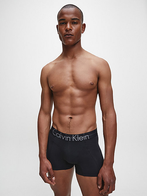 CALVIN KLEIN Low Rise Trunk - Focused Fit - BLACK - CALVIN KLEIN UNDERWEAR - detail image 1