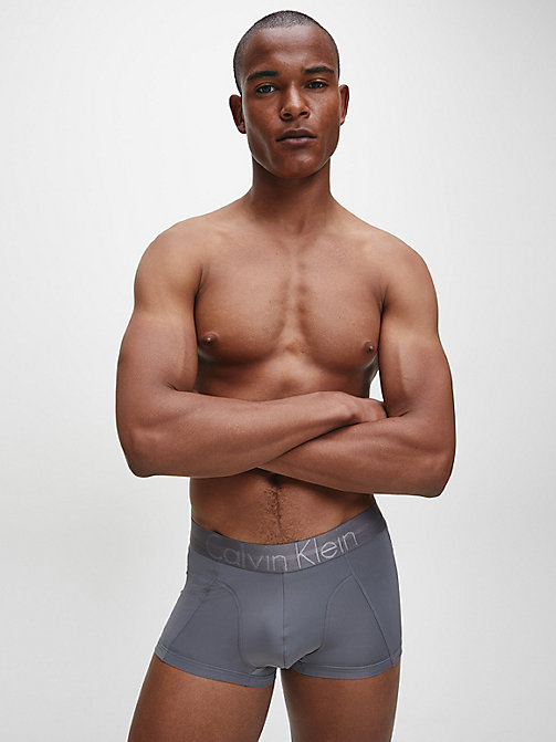 CALVINKLEIN Low Rise Trunks - Focused Fit - GREY SKY - CALVIN KLEIN TRUNKS - detail image 1