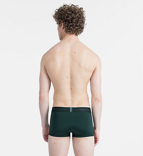CALVIN KLEIN Low Rise Trunks - Focused Fit - SCARAB - CALVIN KLEIN UNDERWEAR - detail image 1