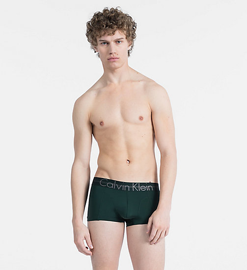 CALVINKLEIN Low Rise Trunks - Focused Fit - SCARAB - CALVIN KLEIN TRUNKS - main image
