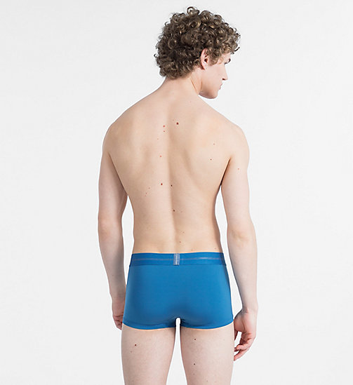 CALVIN KLEIN Low Rise Trunks - Focused Fit - BLUE STEEL - CALVIN KLEIN TRUNKS - detail image 1