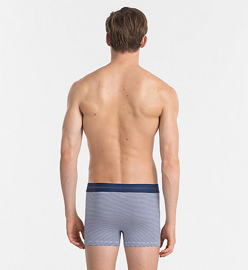 CALVINKLEIN Trunks - Focused Fit - ESTATE BLUE / WHITE STRIPE - CALVIN KLEIN UNDERWEAR - detail image 1