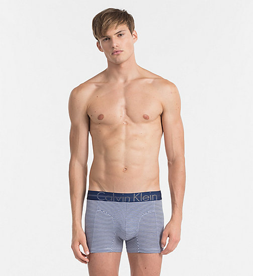 CALVINKLEIN Trunks - Focused Fit - ESTATE BLUE / WHITE STRIPE - CALVIN KLEIN UNDERWEAR - main image