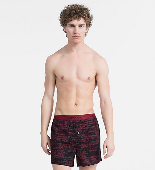 CALVINKLEIN Slim Fit Boxers - PORTION LOGO BIKING RED - CALVIN KLEIN BOXERS - main image