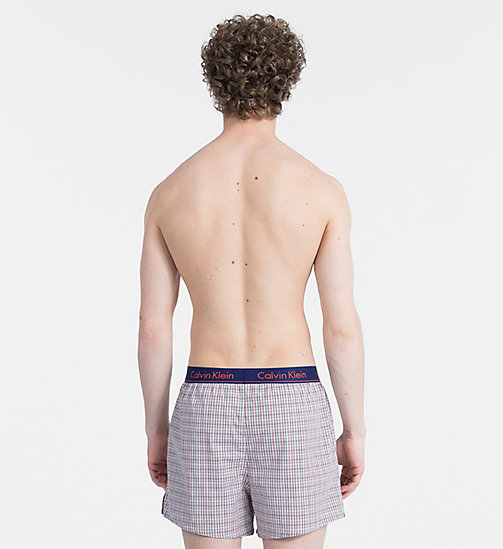 CALVINKLEIN Slim Fit Boxers - PLAID H DARK NIGHT - CALVIN KLEIN NEW FOR MEN - detail image 1