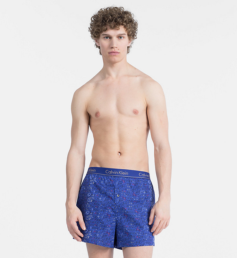 CALVIN KLEIN Slim Fit Boxers - WUXI 2 HEATHER GREY - CALVIN KLEIN UNDERWEAR - main image