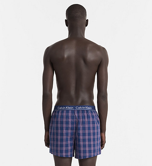 CALVINKLEIN Slim Fit Boxers - PLAID 2 ESTATE BLUE - CALVIN KLEIN UNDERWEAR - detail image 1