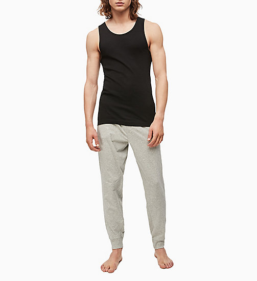CALVINKLEIN 2 Pack Tank Tops - Cotton Classics - BLACK - CALVIN KLEIN #MYCALVINS MEN - detail image 1