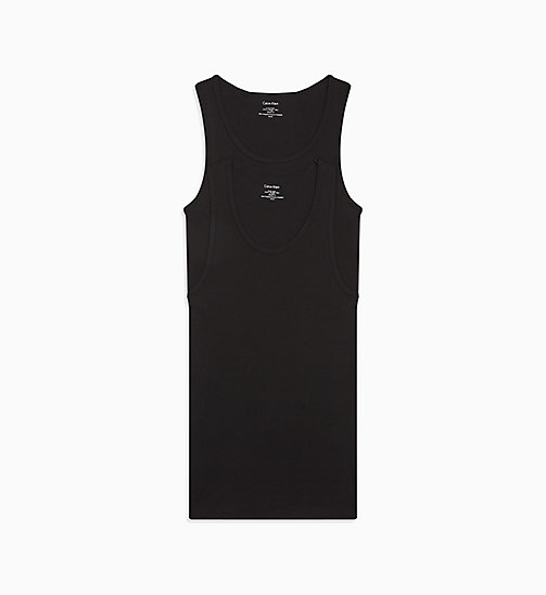 CALVIN KLEIN 2 Pack Tank Tops - Cotton Classics - BLACK - CALVIN KLEIN #MYCALVINS MEN - main image