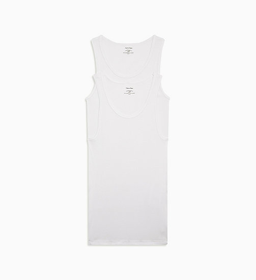 CALVINKLEIN 2 Pack Tank Tops - Cotton Classics - WHITE - CALVIN KLEIN MULTIPACKS - main image