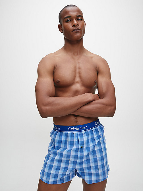 CALVINKLEIN 2er-Pack Slim Fit Boxershorts - LARK PLAID ATALNTIS - GALLAGH - CALVIN KLEIN BOXERSHORTS - main image 1