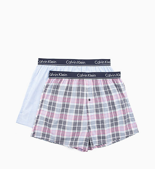 CALVIN KLEIN 2er-Pack Slim Fit Boxershorts - PARK PLAID/WOODBLOCK PRINT WISDOM - CALVIN KLEIN NEW IN - main image 1