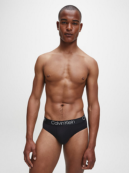 CALVIN KLEIN Hip Briefs - Cotton Modal Luxe - BLACK - CALVIN KLEIN BRIEFS - detail image 1