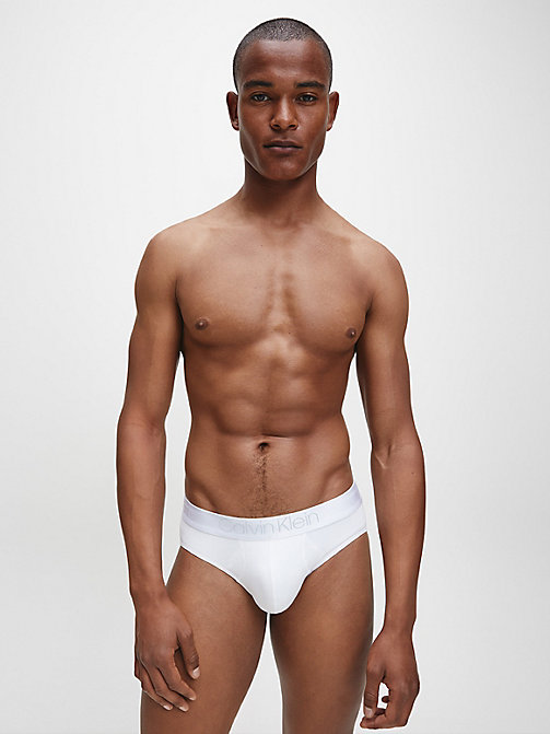 CALVIN KLEIN Hip Briefs - Cotton Modal Luxe - WHITE - CALVIN KLEIN BRIEFS - detail image 1