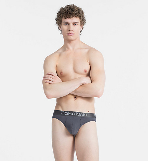 CALVINKLEIN Hip Briefs - Cotton Modal Luxe - PAVEMENT - CALVIN KLEIN BRIEFS - main image
