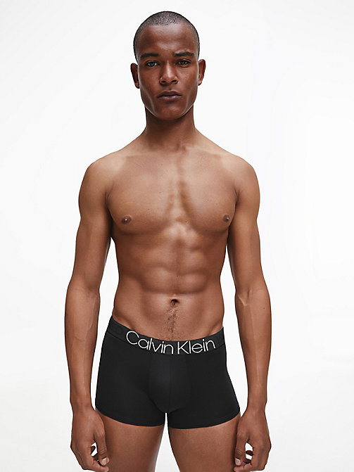 CALVIN KLEIN Low Rise Trunks - Evolution - BLACK - CALVIN KLEIN UNDERWEAR - detail image 1