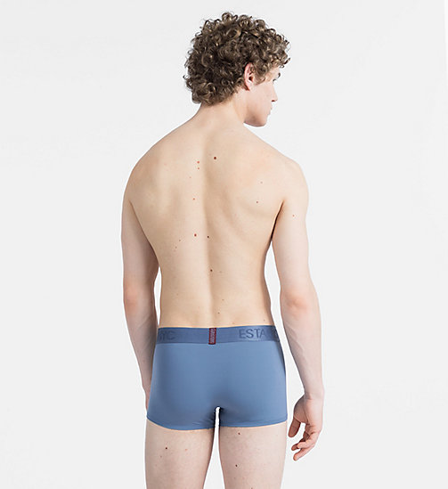 CALVIN KLEIN Low Rise Trunks - Evolution - STORMY BLUE - CALVIN KLEIN NEW FOR MEN - detail image 1