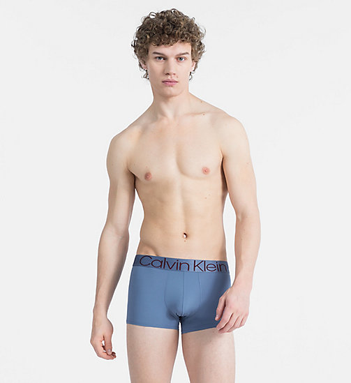 CALVIN KLEIN Low Rise Trunks - Evolution - STORMY BLUE - CALVIN KLEIN NEW FOR MEN - main image