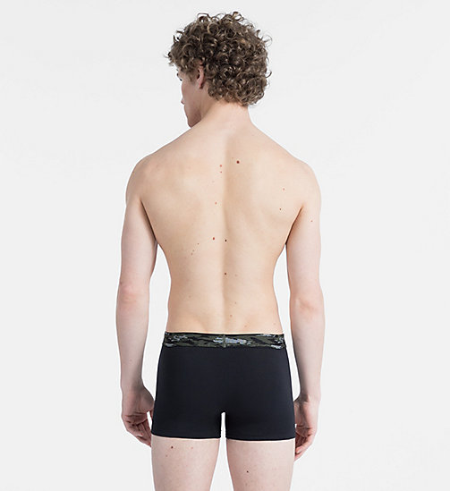 CALVINKLEIN Trunks - Camo Cotton - BLACK W/ CAMO WB - CALVIN KLEIN TRUNKS - detail image 1