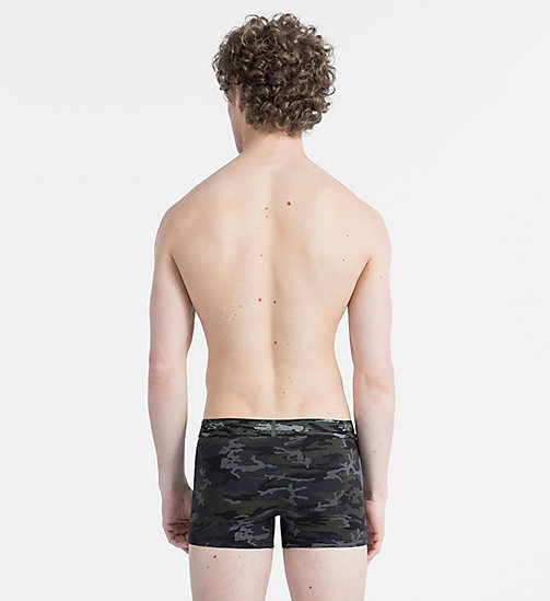 CALVINKLEIN Trunks - Camo Cotton - CAMO PRINT BLACK W/ CAMO WB - CALVIN KLEIN TRUNKS - detail image 1