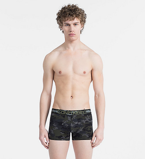 CALVINKLEIN Trunks - Camo Cotton - CAMO PRINT BLACK W/ CAMO WB - CALVIN KLEIN TRUNKS - main image