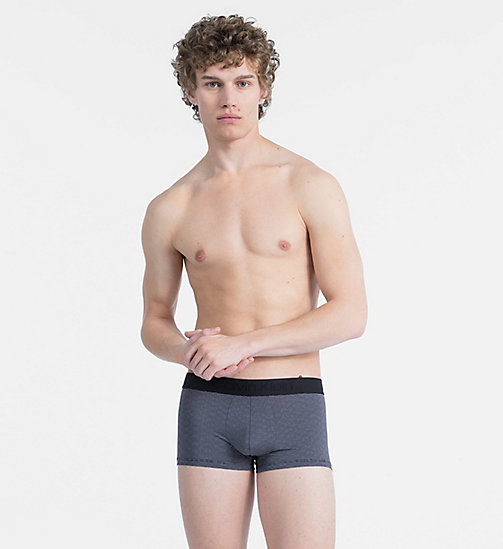 CALVINKLEIN Low Rise Trunks - CK Black - CHEVRON GEO BLACK - CALVIN KLEIN TRUNKS - main image