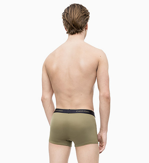 CALVIN KLEIN 2 Pack Low Rise Trunks - CK Pro Air - DEEP WELL/MARTINI OLIVE - CALVIN KLEIN NEW FOR MEN - detail image 1