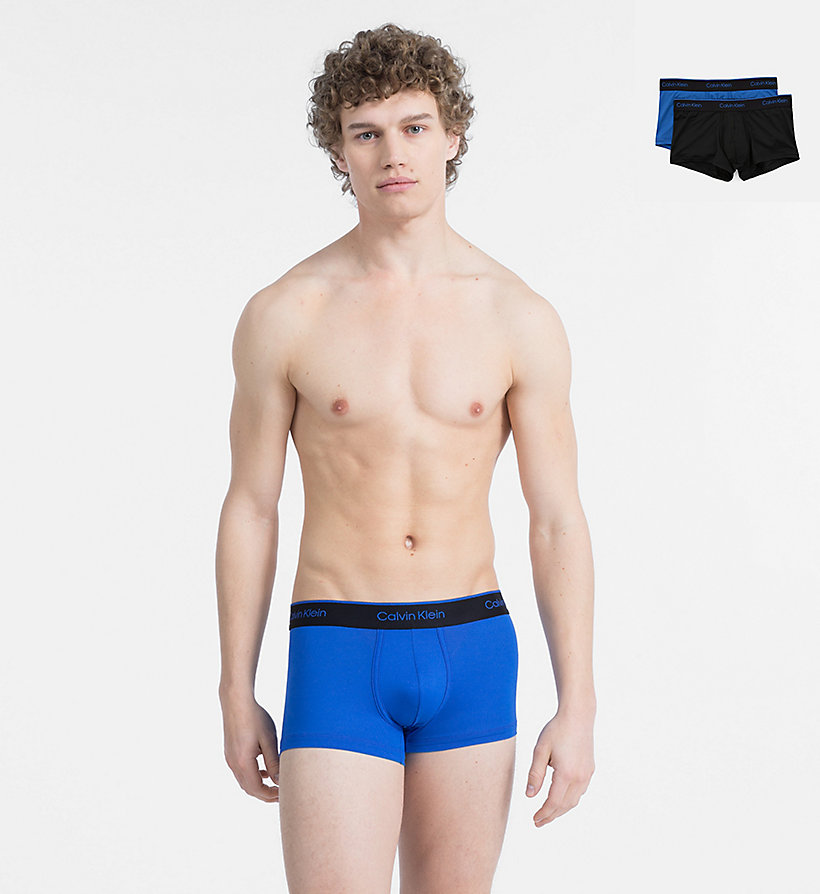 CALVIN KLEIN 2 Pack Low Rise Trunks - CK Pro Air - DEEP WELL/MARTINI OLIVE - CALVIN KLEIN UNDERWEAR - main image