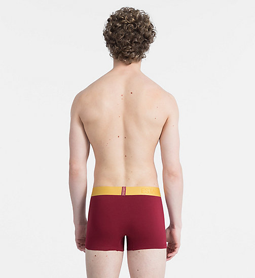 CALVIN KLEIN Boxer - Evolution - BIKING RED W/ CHROMATIC GOLD WB - CALVIN KLEIN SOUS-VÊTEMENTS - image détaillée 1