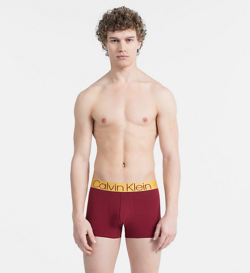 CALVIN KLEIN Trunks - Evolution - BIKING RED W/ CHROMATIC GOLD WB - CALVIN KLEIN ALL GIFTS - main image