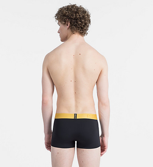 CALVIN KLEIN Low Rise Trunks - Evolution - BLACK W/ CHROMATIC GOLD WB - CALVIN KLEIN ALL GIFTS - detail image 1