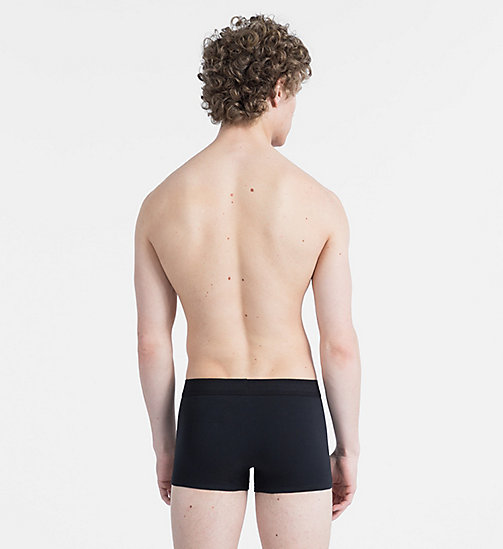 CALVINKLEIN Boxer - Monogram - BLACK W/ WHITE PATCH - CALVIN KLEIN MONOGRAM FOR HIM - image détaillée 1