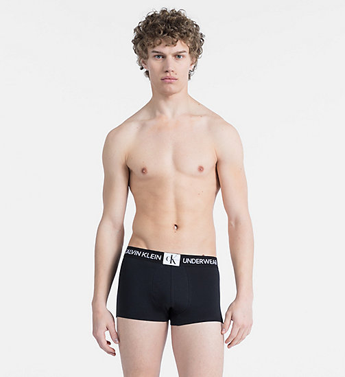 CALVINKLEIN Trunks - Monogram - BLACK W/ WHITE PATCH - CALVIN KLEIN MONOGRAM FOR HIM - main image