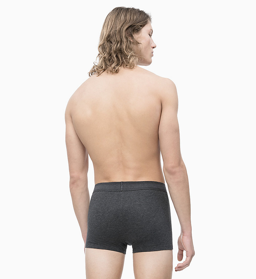 CALVIN KLEIN Trunk - Monogram - GREY HEATHER W/ SPICY ORANGE PATCH - CALVIN KLEIN UNDERWEAR - detail image 1