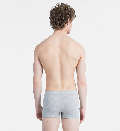 CALVIN KLEIN Trunks - Monogram - GREY HEATHER W/ SPICY ORANGE PATCH - CALVIN KLEIN MONOGRAM FOR HIM - detail image 1