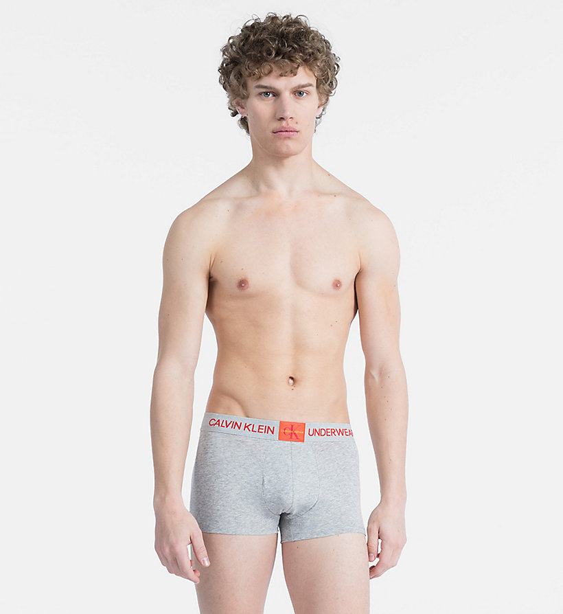 CALVIN KLEIN Trunks - Monogram - WHITE W/ MANIC RED PATCH - CALVIN KLEIN UNDERWEAR - main image