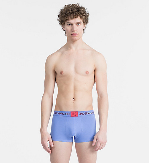 CALVINKLEIN Trunks - Monogram - PERIWINKLE - CALVIN KLEIN MONOGRAM FOR HIM - main image