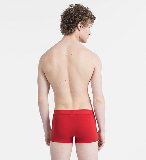 CALVIN KLEIN Trunks - Monogram - MANIC RED W/ PERIWINKLE PATCH - CALVIN KLEIN MONOGRAM FOR HIM - detail image 1