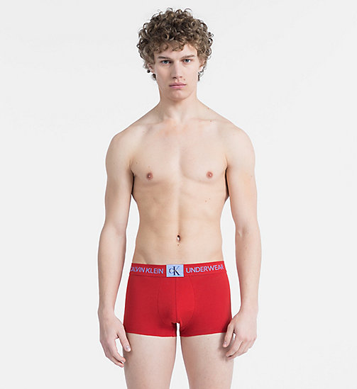 CALVIN KLEIN Boxer - Monogram - MANIC RED W/ PERIWINKLE PATCH - CALVIN KLEIN MONOGRAM FOR HIM - main image