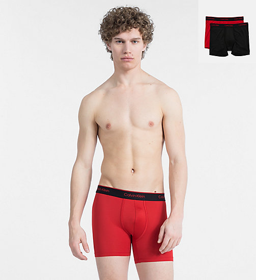 CALVINKLEIN 2 Pack Boxers - CK Pro Air - BLACK/MANIC RED - CALVIN KLEIN TRUNKS - main image
