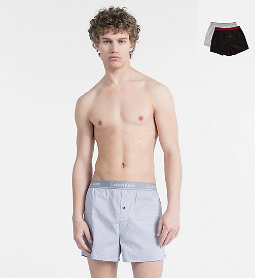 CALVINKLEIN 2 Pack Slim Fit Boxers - CLASSIC DOTS PRINT  / WINTER STAR M - CALVIN KLEIN NEW FOR MEN - main image