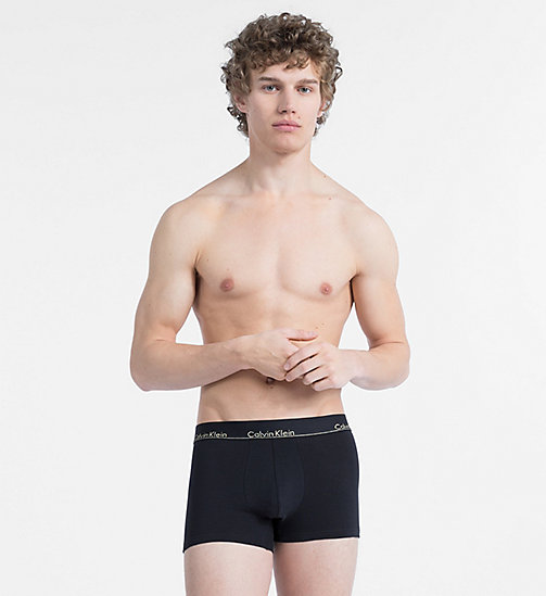 CALVINKLEIN Trunks - Modern Cotton - BLACK W/ GOLD LOGO WB - CALVIN KLEIN NEW FOR MEN - main image