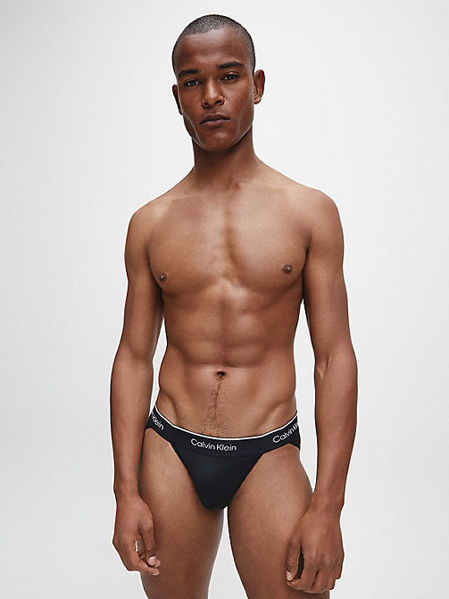 CALVIN KLEIN 2 Pack Hip Briefs - CK Pro Air - BLACK/BLACK - CALVIN KLEIN UNDERWEAR - detail image 1