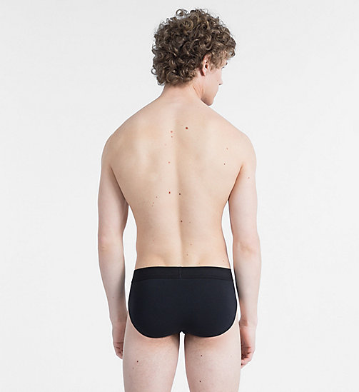 CALVINKLEIN Slip taille basse - Monogram - BLACK W/ WHITE PATCH - CALVIN KLEIN MONOGRAM FOR HIM - image détaillée 1