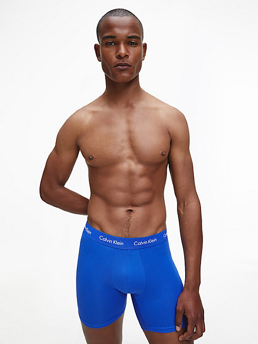CALVIN KLEIN 3 Pack Boxers - Cotton Stretch - BLACK/BLUESHADOW/COBALTWATER DTM WB - CALVIN KLEIN BOXERS - detail image 1