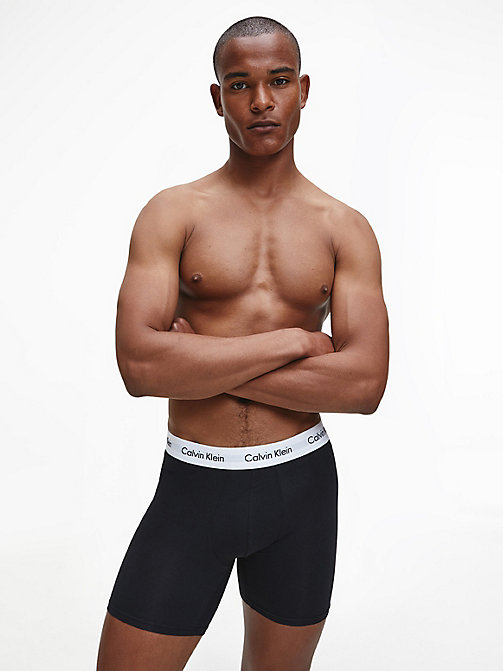 CALVINKLEIN 3er-Pack Boxershorts - Cotton Stretch - BLACK/WHITE/GREY HEATHER - CALVIN KLEIN BOXERSHORTS - main image 1