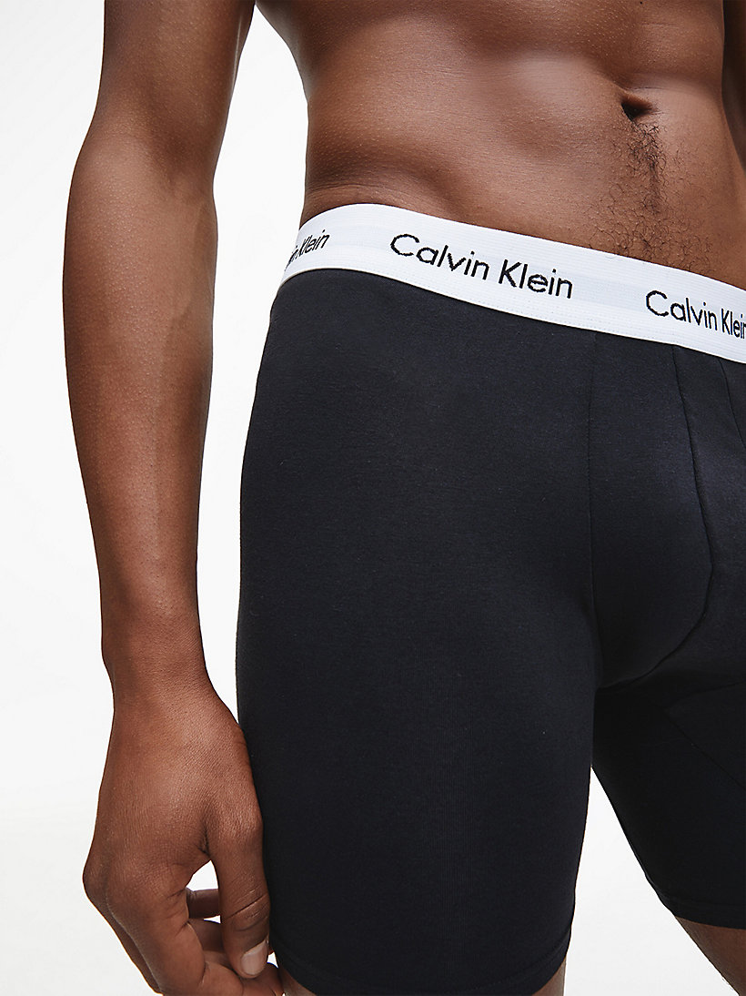 CALVIN KLEIN 3 Pack Boxers - Cotton Stretch - BLACK/BLUESHADOW/COBALTWATER DTM WB - CALVIN KLEIN UNDERWEAR - detail image 3