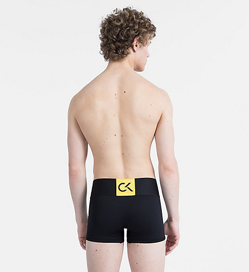 CALVIN KLEIN Trunks - CK Performance - BLACK W/ SUNFLOWER PATCH - CALVIN KLEIN LOGO SHOP - detail image 1