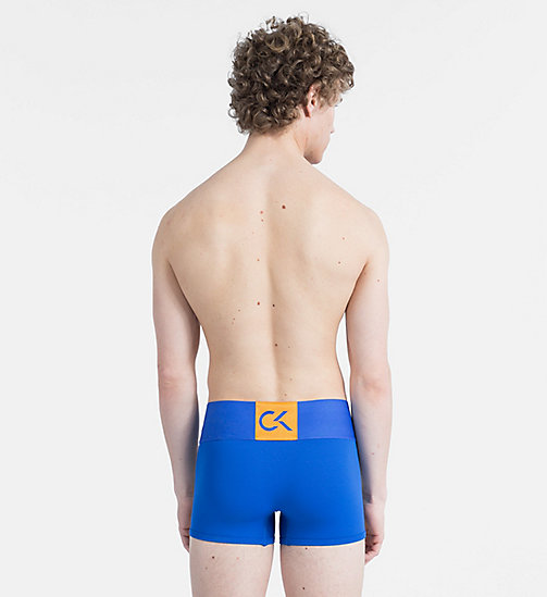 CALVIN KLEIN Trunks - CK Performance - DOVER BLUE W/ BELL ORANGE - CALVIN KLEIN SPORT - detail image 1