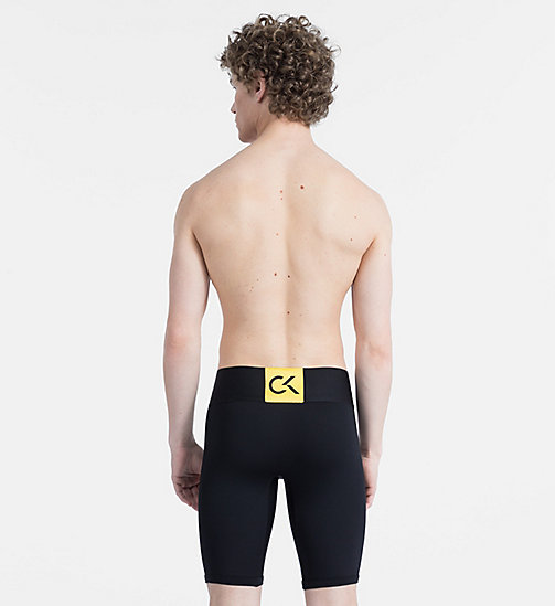 CALVINKLEIN Short vélo - CK Performance - BLACK W/ SUNFLOWER PATCH - CALVIN KLEIN SPORT - image détaillée 1